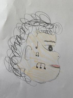 Un joli portrait par un élève de la classe de Mme.Silva