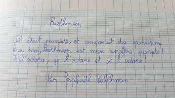 Les mots de Raphaël pour Beethoven